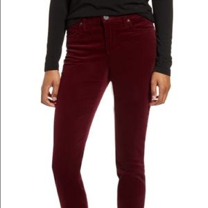 Ralph Lauren Wine Colored Black Label Velvet Pants